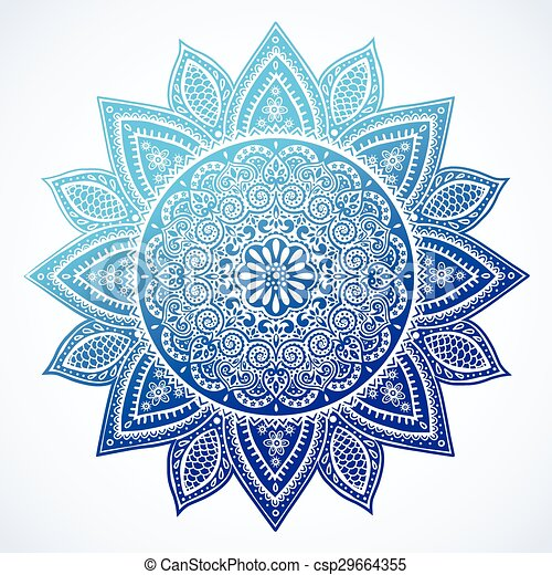 Beautiful Indian floral mandala ornament - csp29664355