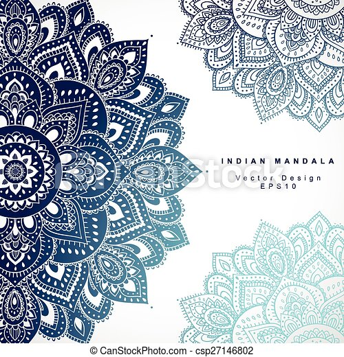 Beautiful indian floral ornament wedding invitation greeting c beautiful indian floral ornament wedding invitation greeting c csp27146802 stopboris Image collections