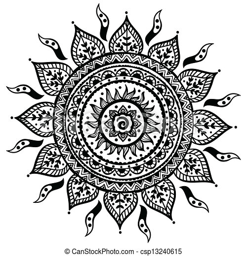 Beautiful Indian ornament - csp13240615