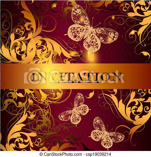Beautiful invitation  design in elegant style - csp19039214