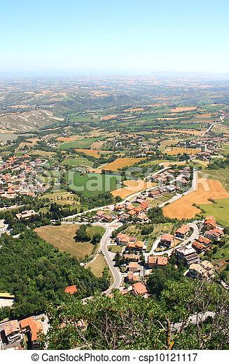 Beautiful Italian landscape. View from San Marino - csp10121117