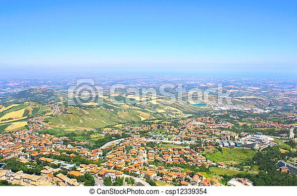 Beautiful Italian landscape. View from San Marino - csp12339354