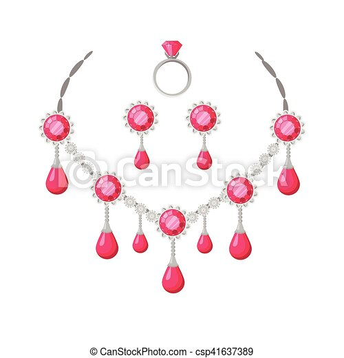 Beautiful Jewelry Accessories Set - csp41637389