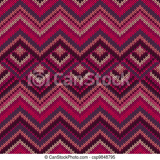 Beautiful Knitted Textile Texture - csp9848795