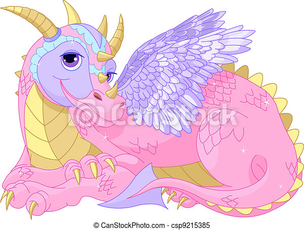 Beautiful lady Dragon - csp9215385