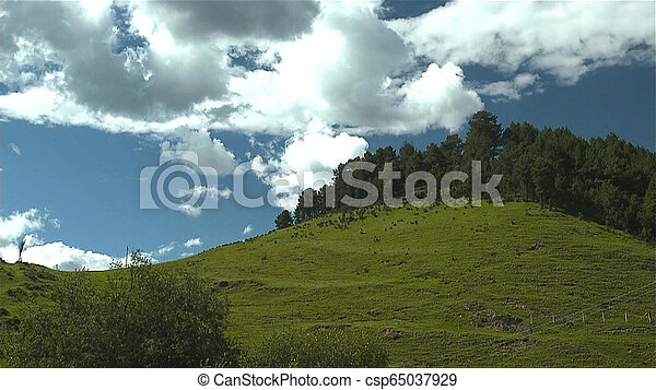 Beautiful landscape and blue sky in the mountains at sunrise. - csp65037929