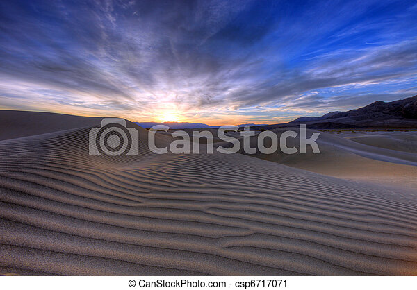 Beautiful Landscape in Death Valley National Park, California - csp6717071