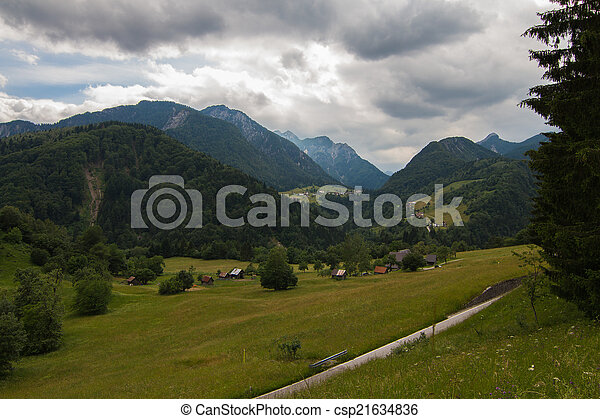 Beautiful landscape in the Dolomites - csp21634836