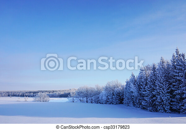 beautiful landscape in winter - csp33179823
