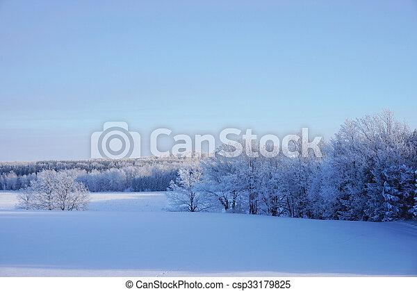 beautiful landscape in winter - csp33179825