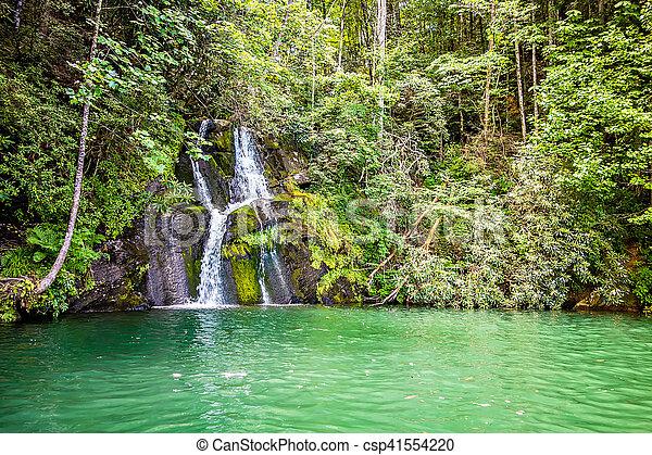 beautiful landscape scenes at lake jocassee south carolina - csp41554220