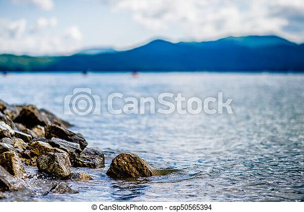 Beautiful landscape scenes at lake jocassee south carolina - csp50565394