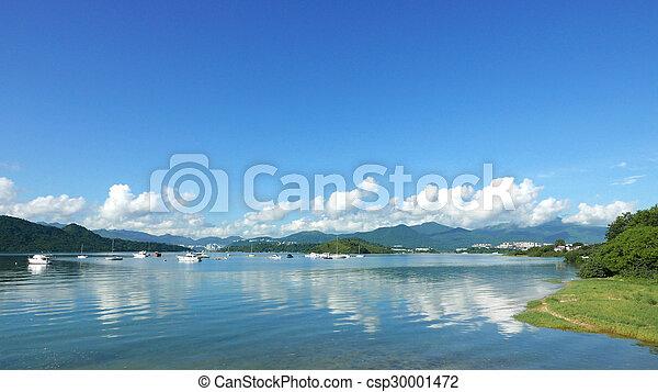 Beautiful landscape with cloudscape - csp30001472