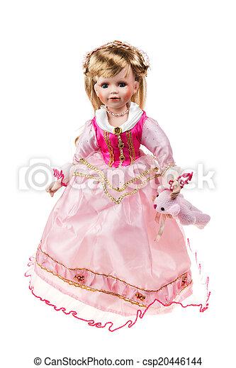 Beautiful large plastic doll - csp20446144