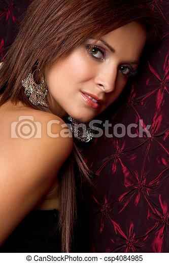 Beautiful Latina Woman - csp4084985