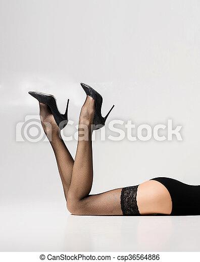 Beautiful legs in stockings