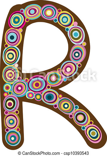 "Beautiful letter ""R"" - csp10393543"