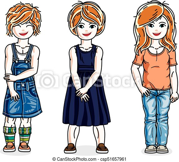 beautiful little girls group posing wearing casual clothes clip rh canstockphoto com beautiful clipart black and white beautiful clipart graphics