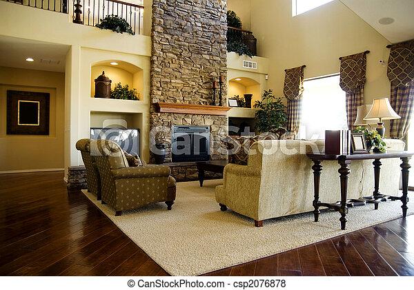 Beautiful living room - csp2076878