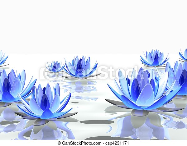 Beautiful lotus 3d rendered illustration of some colorful lotus beautiful lotus csp4231171 mightylinksfo