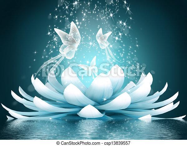 Beautiful lotus flower - csp13839557