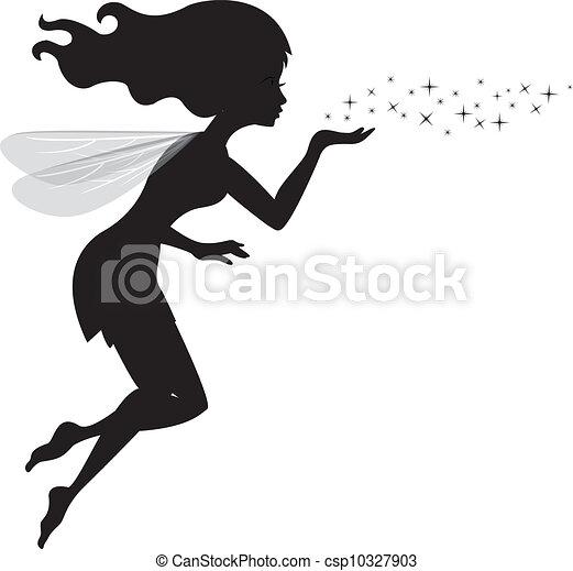 Beautiful love fairy sanding blowin - csp10327903