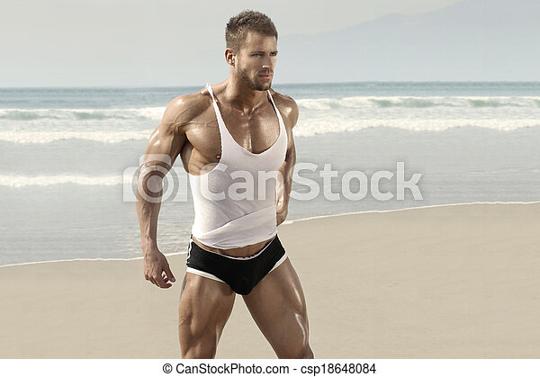 Beautiful male model - csp18648084