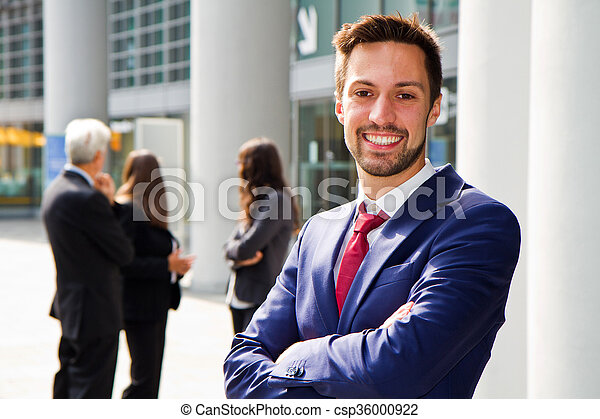 Beautiful man on the background of - csp36000922