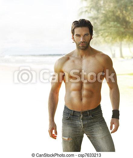 Beautiful man - csp7633213