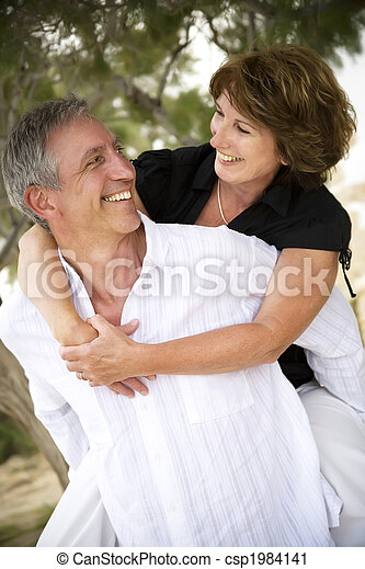 Beautiful mature couple in love - csp1984141