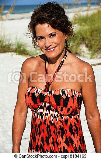 Beautiful Mature Woman - csp18184163