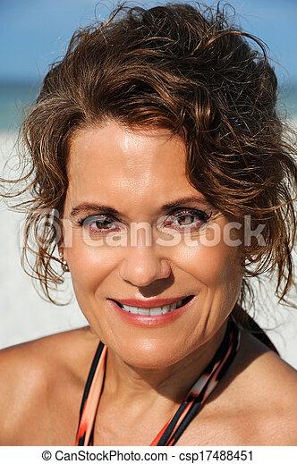 Beautiful Mature Woman - csp17488451