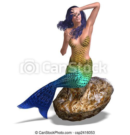 beautiful mermaid - csp2416053
