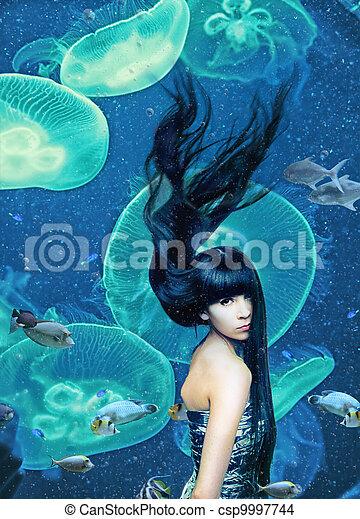 beautiful mermaid - csp9997744