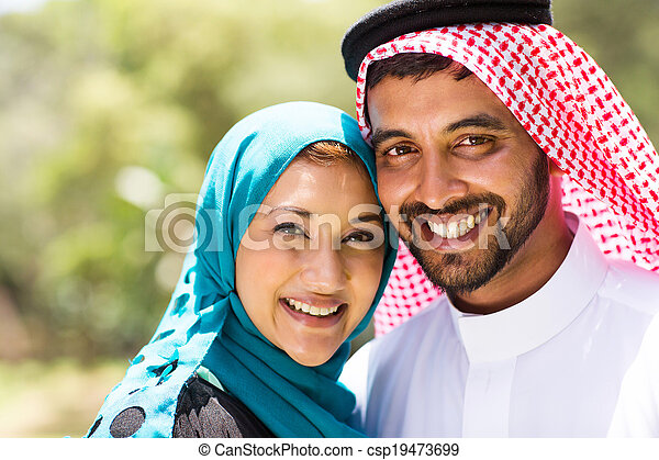 beautiful middle eastern couple - csp19473699