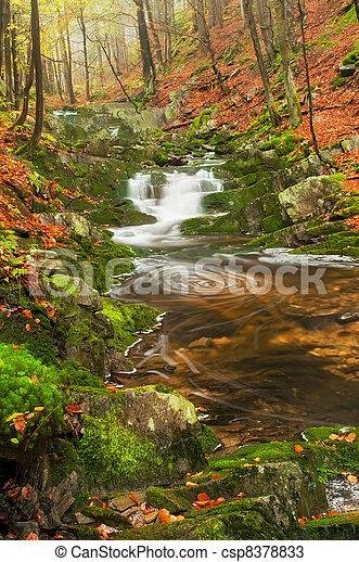 Beautiful Misty Waterfall - csp8378833