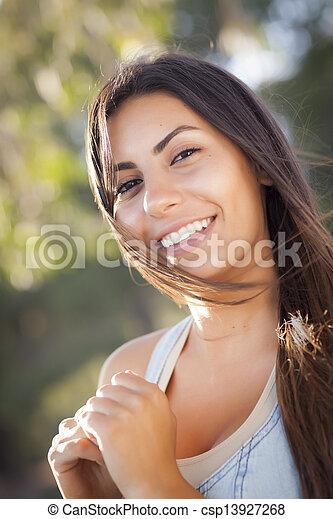 Beautiful Mixed Race Young Woman - csp13927268