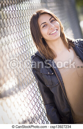 Beautiful Mixed Race Young Woman - csp13927234