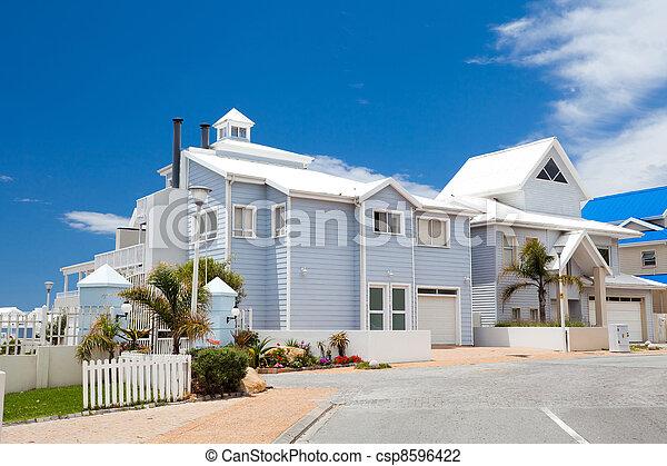 beautiful modern house - csp8596422