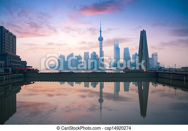 beautiful morning in shanghai - csp14920274