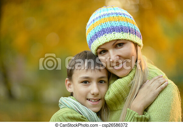 Beautiful mother with her son - csp26586372