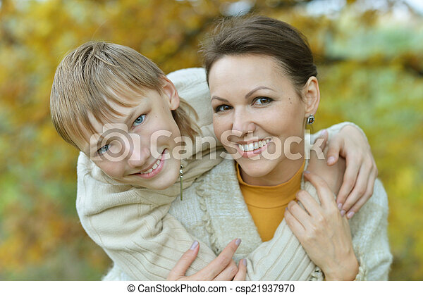 Beautiful mother with son - csp21937970