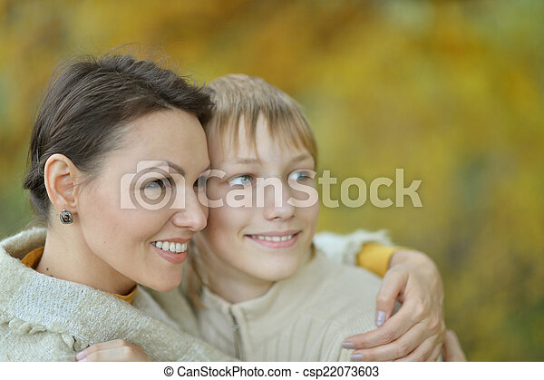 Beautiful mother with son - csp22073603