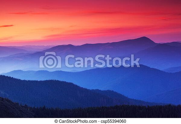 beautiful mountains landscape - csp55394060