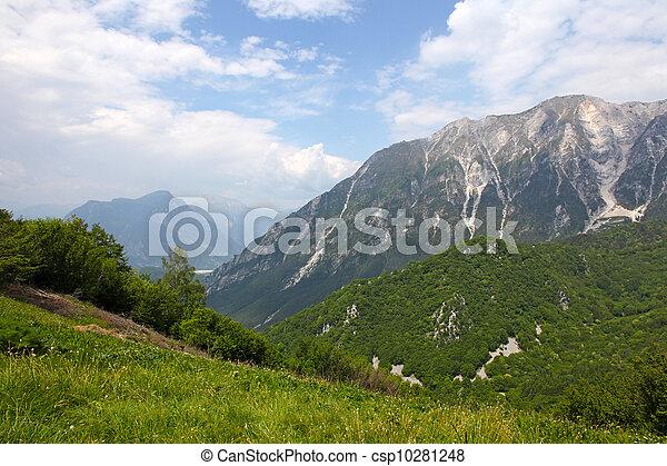 Beautiful mountains - landscape taken in Julian Alps, Italy - csp10281248