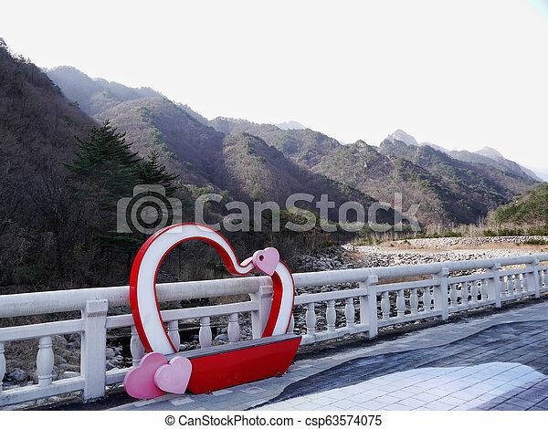 Beautiful mountains Seoraksan in South - csp63574075