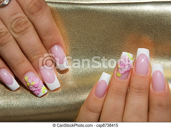 Beautiful nails with Art - csp8738415