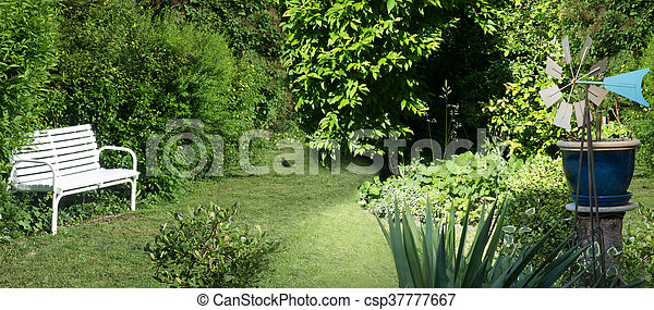 Beautiful Natural Green Garden Background 3d Illustration