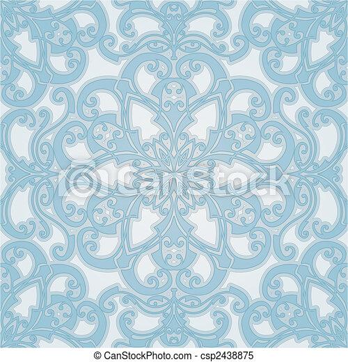 beautiful natural seamless geometric tile design  - csp2438875