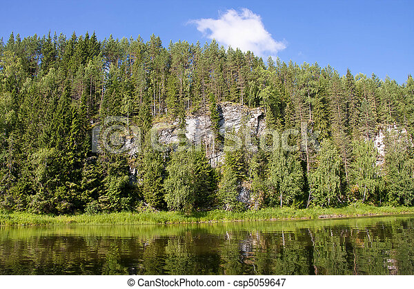 beautiful nature on the river - csp5059647